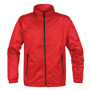 Axis Softshell Jacket in red with black full zip and 2 zipped pockets