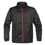 Axis Softshell Jacket in black with red full zip and 2 zipped pockets