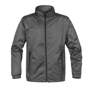 Axis Softshell Jacket in grey with black full zip and 2 zipped pockets