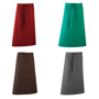 Long continental style Bar Apron with single pocket, combined pen pocket and tie waist