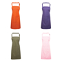 Bib Apron with Pocket with pocket and combined pen slot and ties