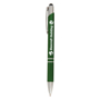 Crosby Shiny Pen w/Top Stylus in green with 1 colour print