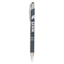 Crosby Shiny Pen w/Top Stylus in navy with 1 colour print