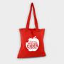 shopper bag in red