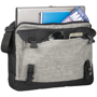Modern style laptop briefcase in grey and black