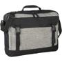 Grey laptop case with black detailing, handle and shoulder strap