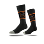 Business Crew Socks in black with colour contrast stripes and full colour logo