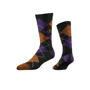 Business Knit Crew Socks in black with 3 colour logo and colour match stripes