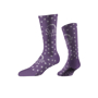 Business Knit Crew Socks in purple with 1 colour logo and colour match stripes
