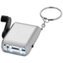 Carina Dynamo Keyring Torch in silver with black wind up