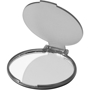 Carmen Mirror in grey black with plastic flip-top cover and transparent back