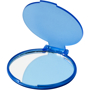 Carmen Mirror in blue with plastic flip-top cover and transparent back