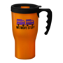 350ml orange reusable coffee cup with handle