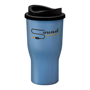 350ml reusable coffee tumbler in blue available with mix and match lid colours