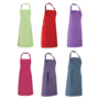 Colours Bib Apron with sliding adjustable buckle, neckband and ties