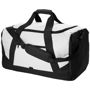 Columbia Travel Bag in white with black straps and details