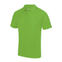 Cool Polo in green with matching coloured buttons