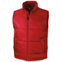 Core Bodywarmer in red with full zip and 2 pockets on the outside