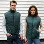 Core Bodywarmer in green with full zip and 2 pockets on the outside