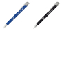 a soft touch metal ball pen shown in two different colourways