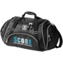 Crunch Duffel Bag in black with full colour logo