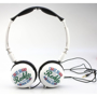 Crystal Headphones in white with full colour print logo