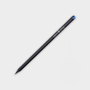 Crystal Tipped Eco Pencil in black with 1 colour print logo and blue crystal