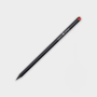 Crystal Tipped Eco Pencil in black with 1 colour print logo and red crystal