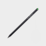 Crystal Tipped Eco Pencil in black with 1 colour print logo and green crystal