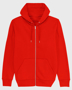 Cultivator Iconic Zip-Thru Hoodie in red