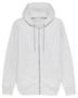 Cultivator Iconic Zip-Thru Hoodie in light grey