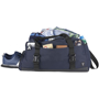 Day 21inch Duffel Bag in navy with black straps and full of clothes