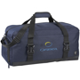 Day 21inch Duffel Bag in navy with black straps and 3 colour logo