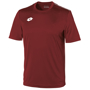 Delta Jersey - Short Sleeve Shirt in burgundy with 1 colour print logo right hand side of chest