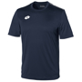 Delta Jersey - Short Sleeve Shirt in navy with 1 colour print logo right hand side of chest