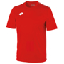 Delta Jersey - Short Sleeve Shirt in red with 1 colour print logo right hand side of chest