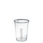 plastic disposable cups with 1 colour logo