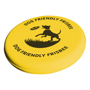 yellow dog frisbee with 1 colour print