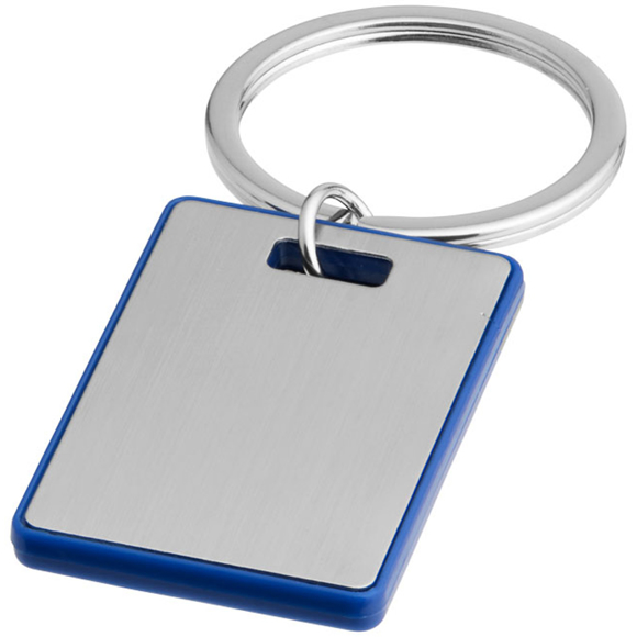 rectangular blue donato keyring