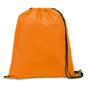 Draw string sports bag in orange with black strings