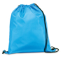 Draw string sports bag in light blue with black strings