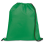 Draw string sports bag in green with black strings