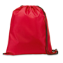 Draw string sports bag in red with black strings