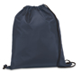 Draw string sports bag in grey with black strings