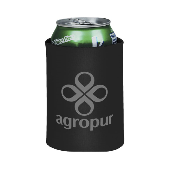 Drink Insulator in black with 1 colour print logo
