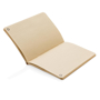 Eco-friendly cork notebook with recycled craft lined paper
