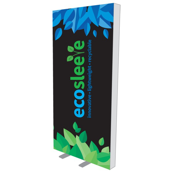 tall eco exhibition stand sign