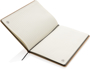 Eco Friendly A5 Kraft Notebook with cream lined papers