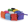 Folding shopping bags in a range of colours