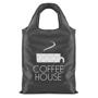 black fold-up shopper bag